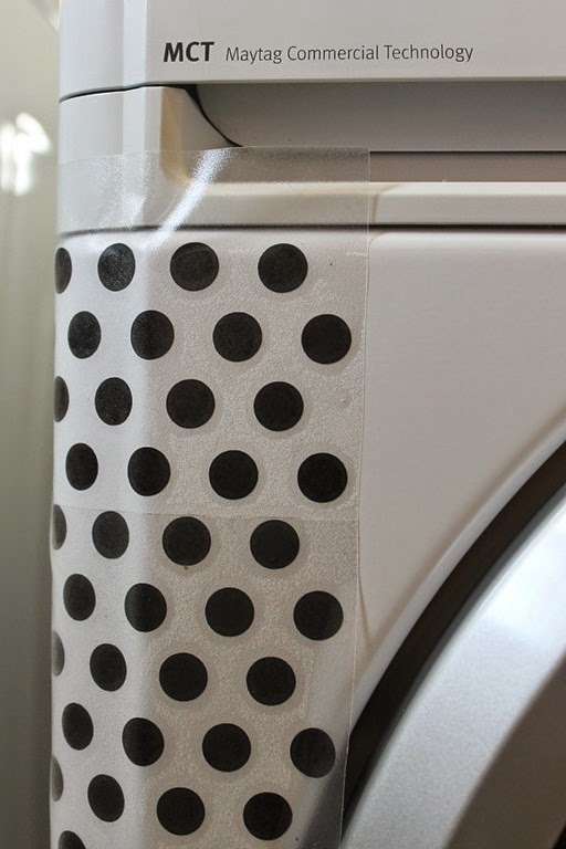 how to put polka dots on your washer