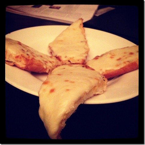 garlic bread with mozarella