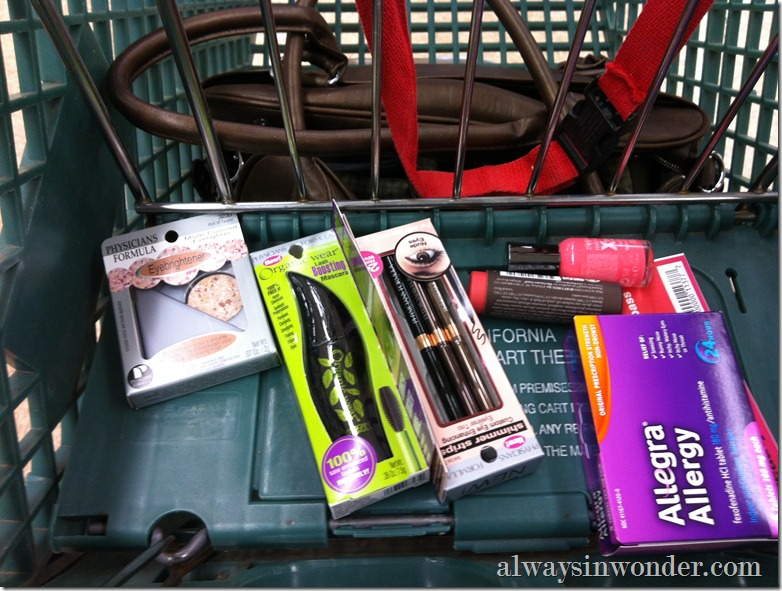 shopping at CVS for Allegra and Spring Beauty Products