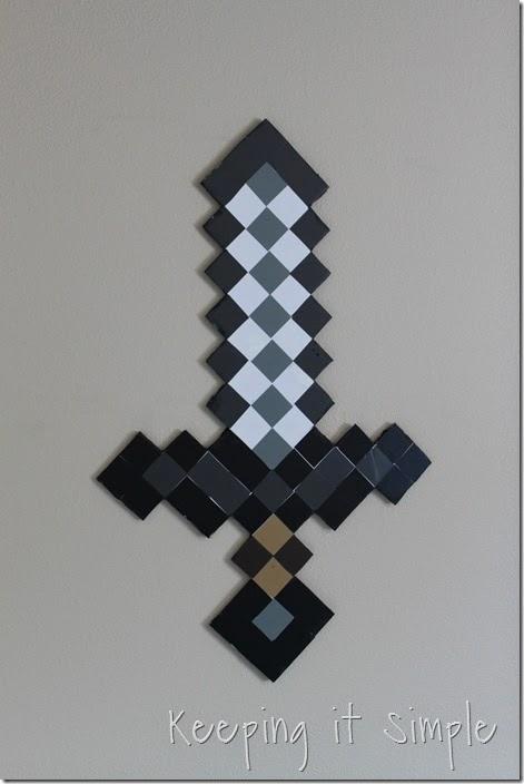 DIY-Foam-Minecraft-Pickaxe-and-Sword (10)