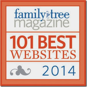 The Ancestry Insider is one of Family Tree Magazine's 101 Best Websites for 2014.