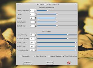 Xfce4 Composite Editor su Xubuntu