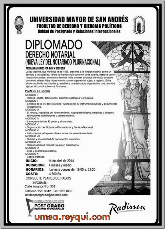Diplomados en la UMSA