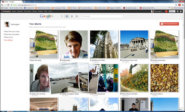 Photo Albums in Google