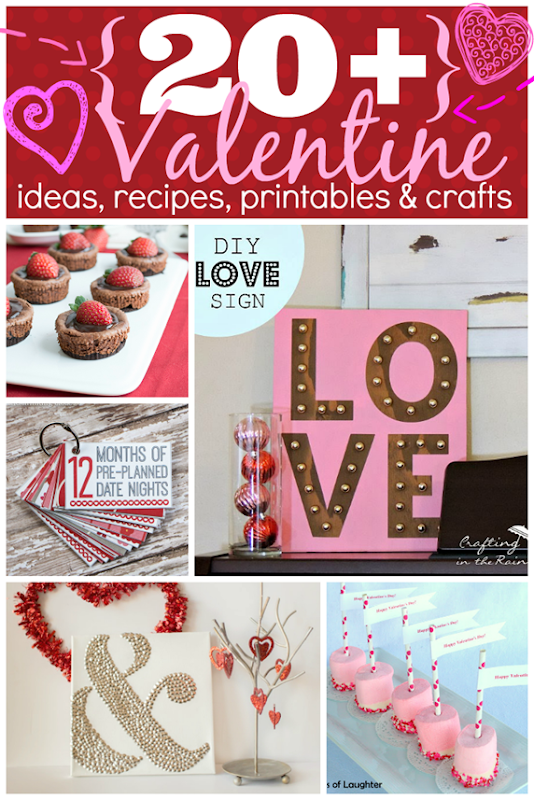 Over 20 Valentine Ideas, Recipes, Printables & Crafts at GingerSnapCrafts.com #linkparty #features #valentinesday
