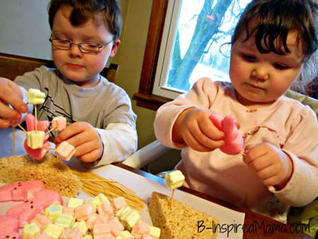 Easter Marshmallow Toothpick Craft from B-Inspired Mama