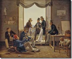 Constantin_Hansen_1837_-_Et_selskab_af_danske_kunstnere_i_Rom