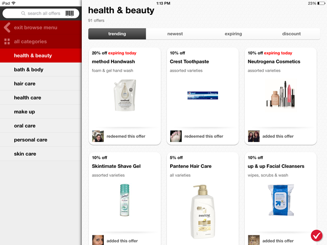 Target Cartwheel - Browse by Subcategories