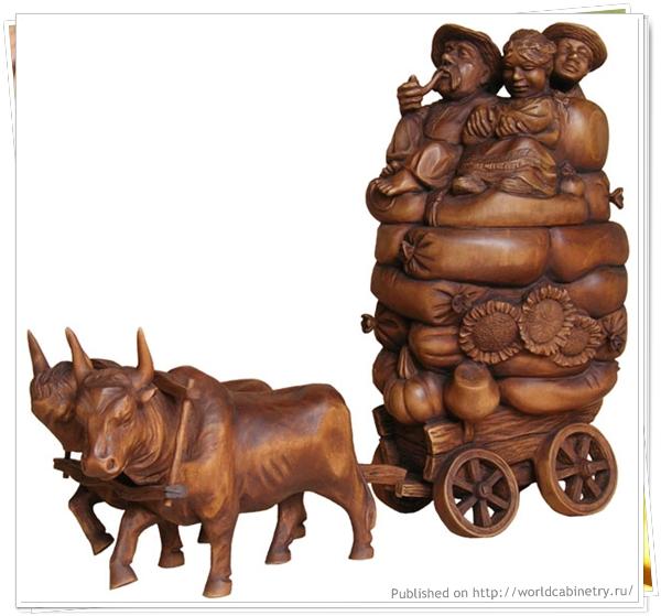 Деревянные скульптуры и статуэтки Виктора Каут