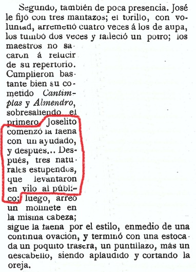 1915-08-01 Santander Reseña SyS Joselito faena 2ª 003