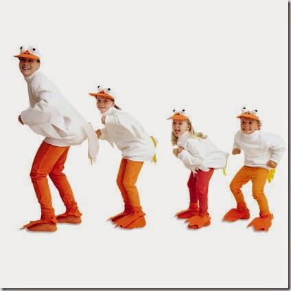 disfraz de pato para familias