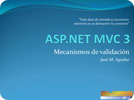 Mecanismos de validación en ASP.NET MVC 3