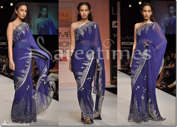 Anushka_Khanna_Bllue_Saree