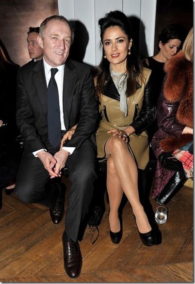 Salma Hayek Celebs Yves Saint Laurent Show 9Xfy27lwRExl