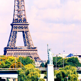 Miss Liberty, Paris by Timothy Carney - Buildings & Architecture Statues & Monuments ( seine, eiffel tower, paris, statue of liberty )