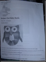 owl rattle pattern
