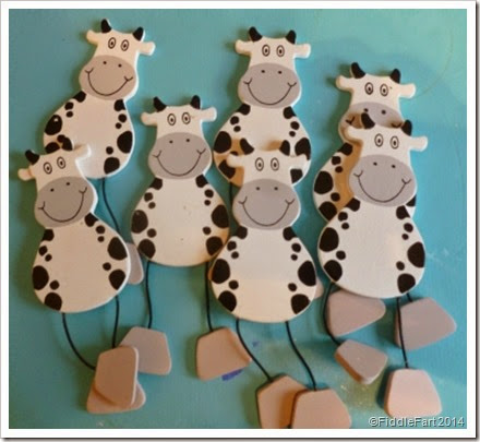 wooden cow embellishments