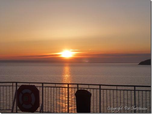Solopgang på Oslobåden