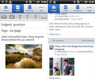 лучшее андроид приложение liveJornal