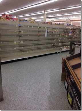 Louisiana Winter Storm Store Panic