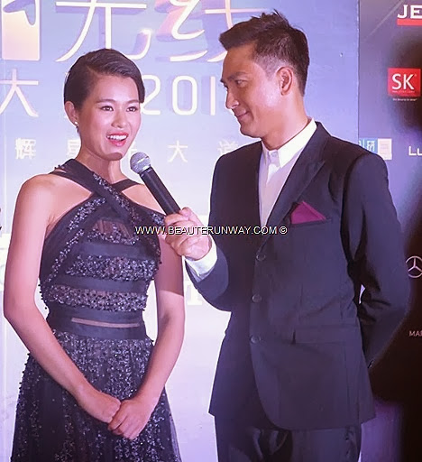 StarHub TVB Awards 2013 Myolie Wu truimphs in the skies II My Favourite TVB Female Character award Kenneth Ma My Favourite TVB Male Character award for Three Kingdoms RPG Winners Singapore Marina Bay Sands