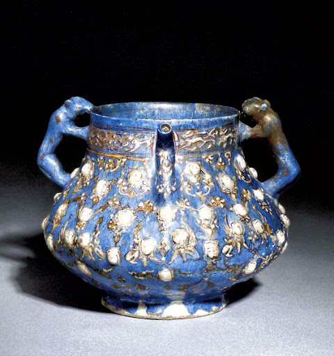 A Moudled Pottery Vessel. Iran. Circa 596 AH / 1200 AD