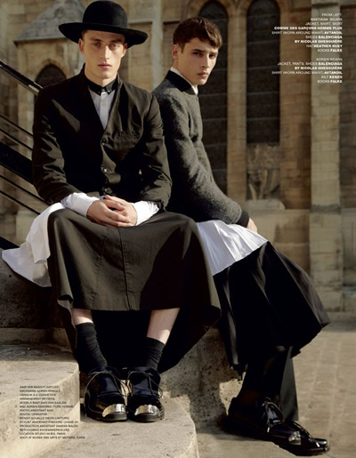 Bastian Van Gaalen + Adrien Sahores  by Anthony Maule for VMan #23, September2011
