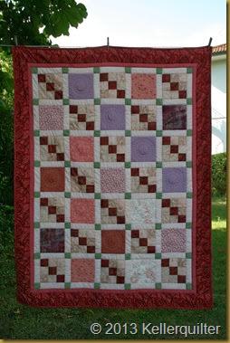 Quilt088-rosa 9-patch