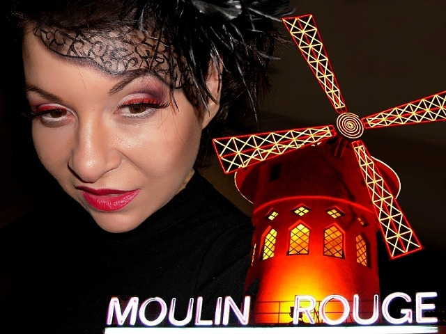 moulin rouge makeup look eotd eotn inspiration paris cabaret