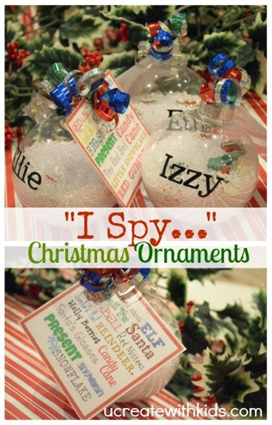 DIY Children's I-Spy Ornament ucreatewithkids.com