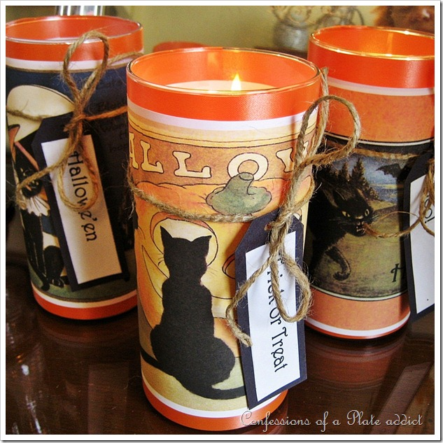 Easy Halloween Candles