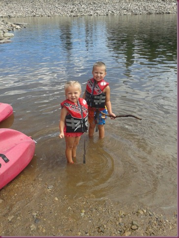 Lake - Chloe and Connor in Water
