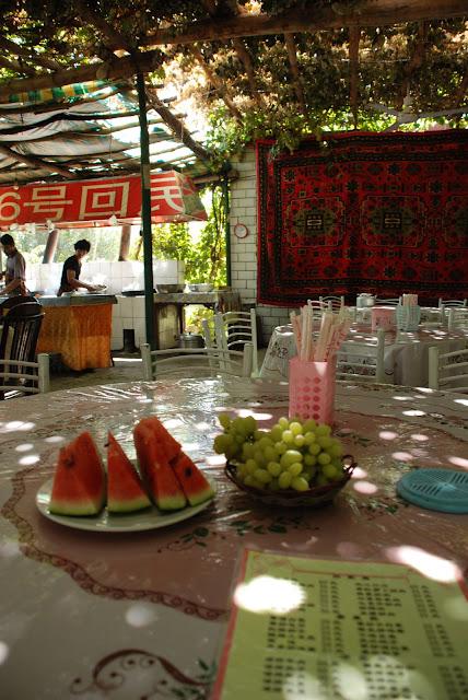 Turfan - Putaogou restaurant raisin pasteque offert