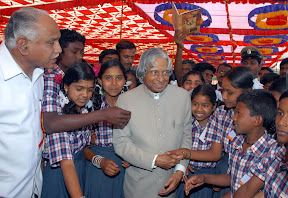 With School Childrens on Dr. A.P.J. Abdul Kalam's Birthday