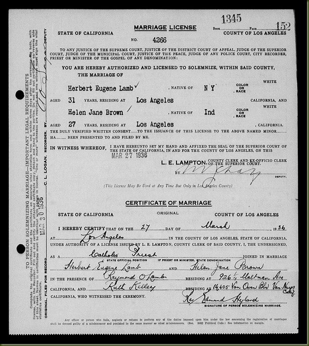 Herbert-Eugene-Lamb-and-Helen-Jane-Brown-marriage,-p1