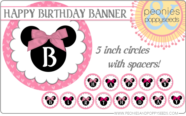 peonies and poppyseeds minnie mouse birthday circle banner copy