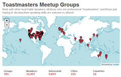 Toastmaster Meetups around the world