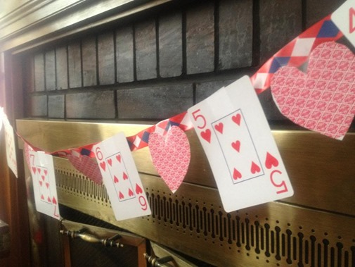 Playing Card Valentines Day Banner Kids Craft by My Kids Guide