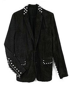 Erin Wasson Zadig & Voltaire Suede Studded Jacket FW 2011
