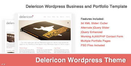 Delericon Business/Portfolio Template Wordpress - Business Corporate