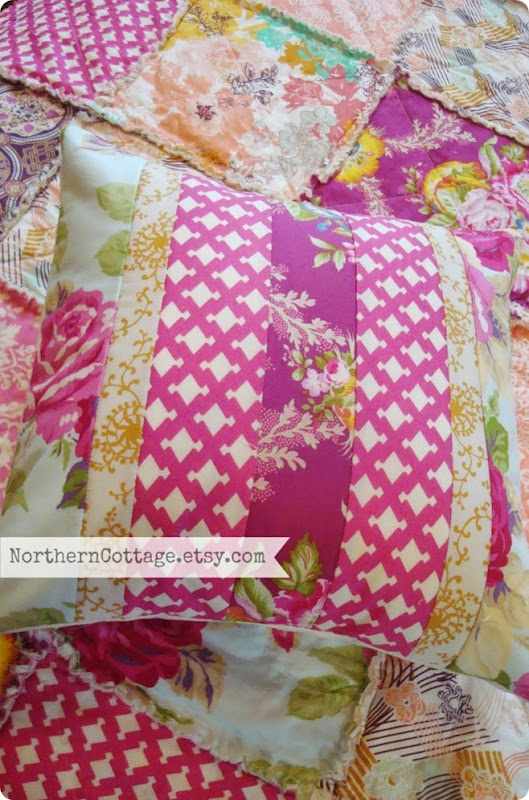 {NorthernCottage} Quilted Pillow Cover and Quilt