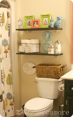 kids bathroom shelves