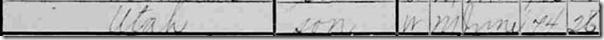 Utah Crosen in 1900