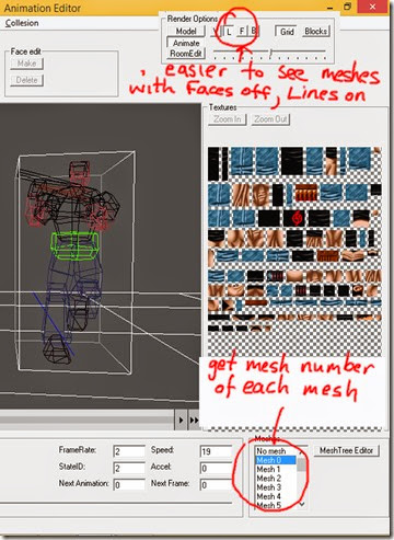 See what number each mesh is