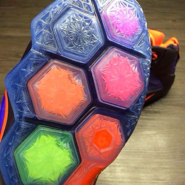 Another Look at the Nike LeBron 12 in Purple and Orange