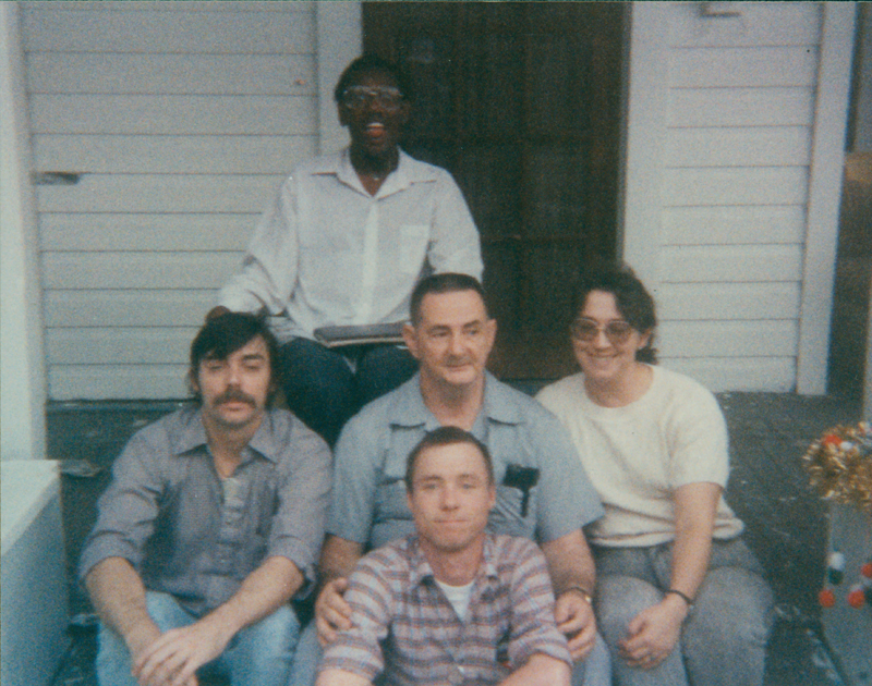 Edgar Sandifer (center) with other members of the Gray Panthers. 1989.