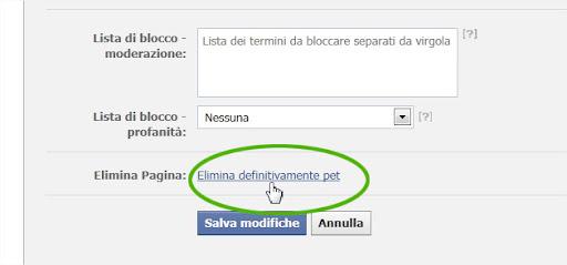 Come eliminare una pagina da Facebook
