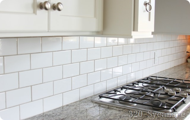 Subway tile grout