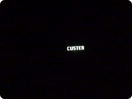 Custer sign at night
