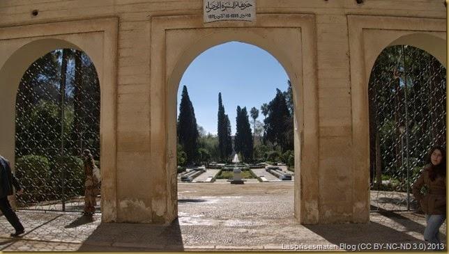 Entrada a los jardines de Jnan Sbil